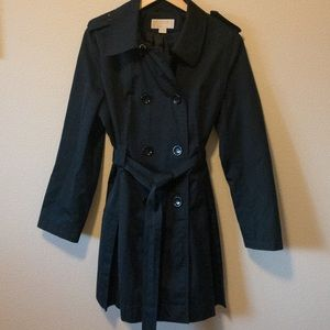 MK double-breasted trench coat